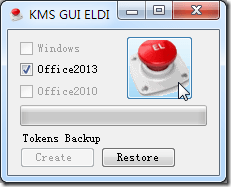 click red button for kms