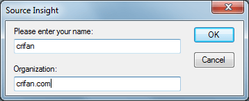 input user name and org to trail