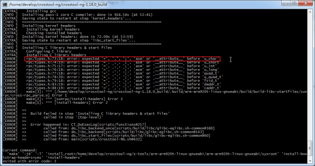 rpc types.h error expected asm or attribute before u_char