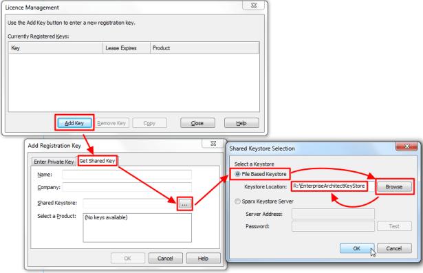 add key get shared key file based keystore ok