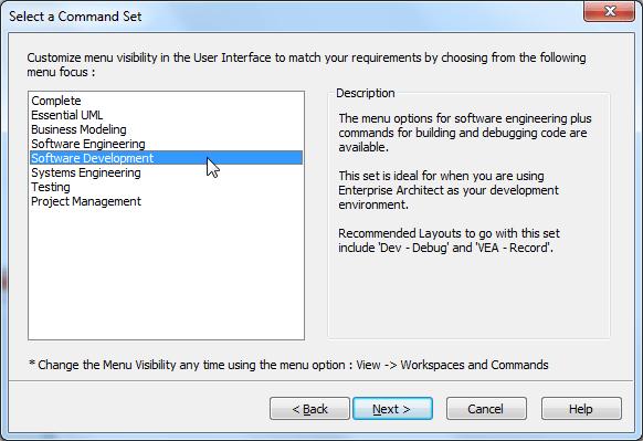 ea select a command set software development