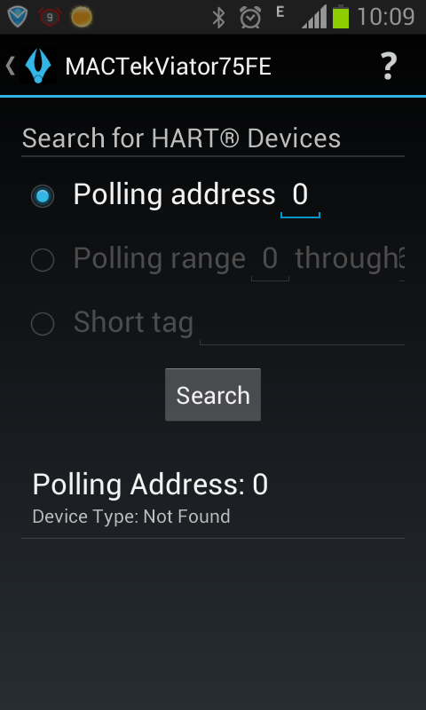 poll address 0 device type not found