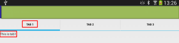 android added tab of tab 1