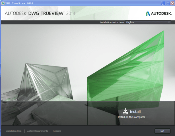 autodesk dwg trueview 2014 install on this computer