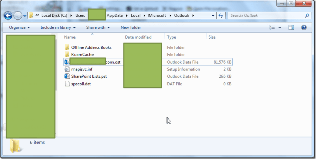 C Users AppData Local Microsoft Outlook ost file