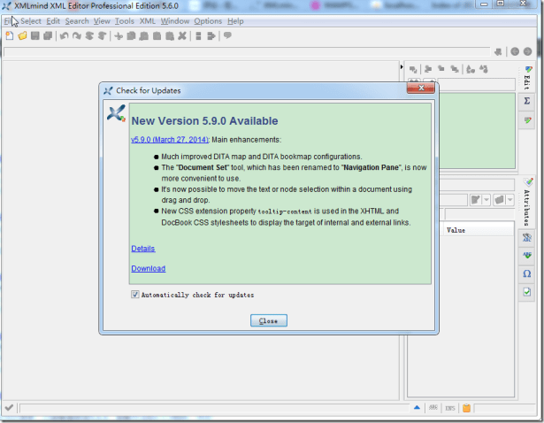 new version 5.9.0 available for xxe