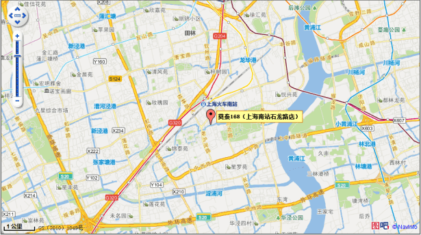 motel 168 location show in ctrip map