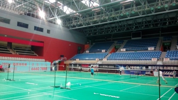 dushu lake badminton court inside east south view