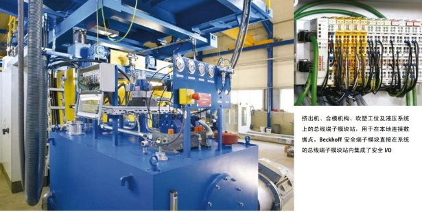 squeeze out machine and common model beckhoff safety terminal