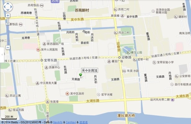 wuzhong gym location map view middle