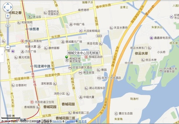 xiangcheng culture sport center location map view middle
