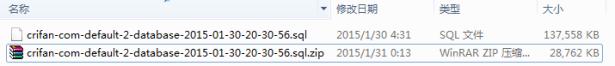 downloaded new sql file of crifan com