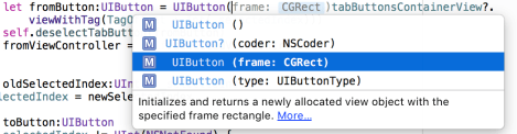 several init for UIButton