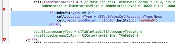 select some code not support shift tab to indent