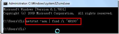 run netstat not found 49100