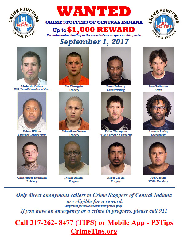Crime Stoppers of Central Indiana - criminal wanted poster