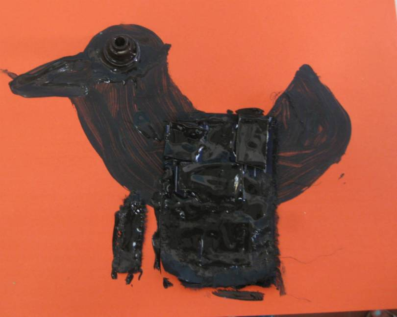 disegno numero 1 di un bambino corvo