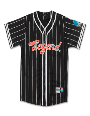 PINK DOLPHIN Legend Baseball Jersey in Black