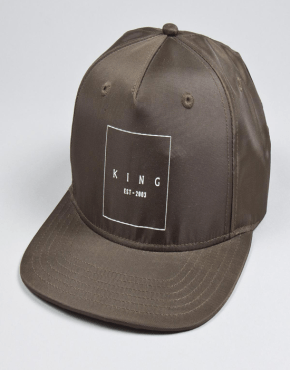 KING APPAREL Brampton Pinch Panel Snapback Cap - Fern
