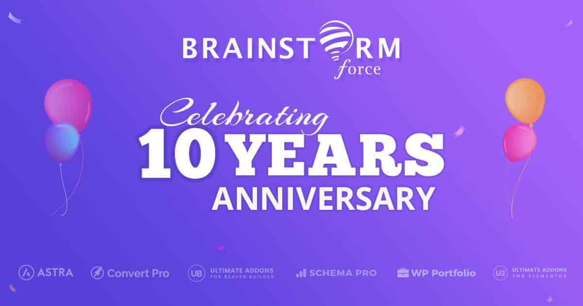 Brainstorm Force Celebrating 10 years Anniversary Provides 25 Off