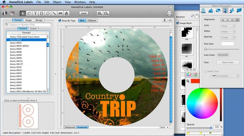 Download Home Disc Labels, Mac CD/DVD Label Maker CD/DVD label - create cd labels