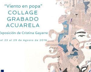 EXPOSICIÓN DE COLLAGE, ACUARELA Y GRABADO EN EL ESCORIAL,23-29 de Agosto
