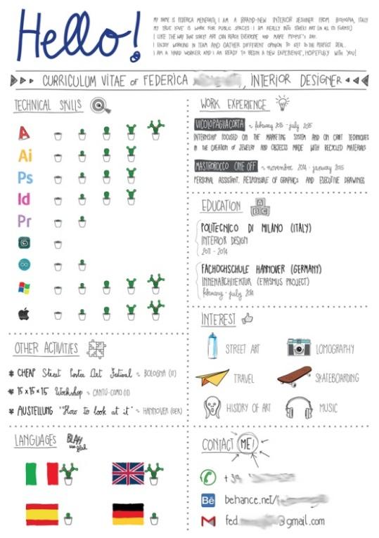 comment decrire langues cv