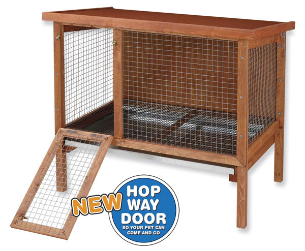 Hd Large Rabbit Hutch By Ware Mfg 43quotw X 28quotd X 38 3 4quot High