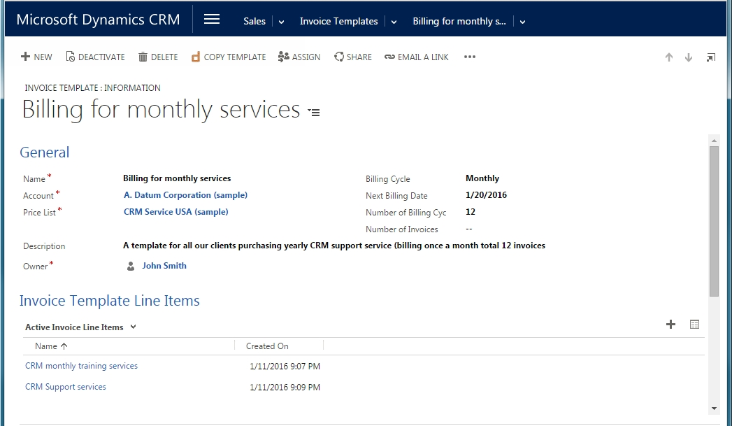 Recurring Invoices / Subscription Invoicing System - CRM Software