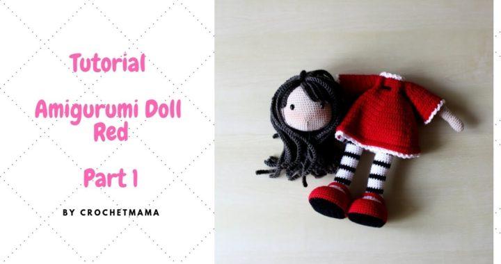 Crochet Amigurumi Doll Red Pattern Tutorialpart 1 2