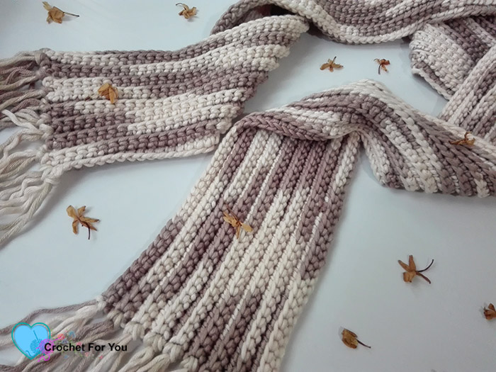 Crochet Easy Ribbed Scarf Free Pattern Crochet For You
