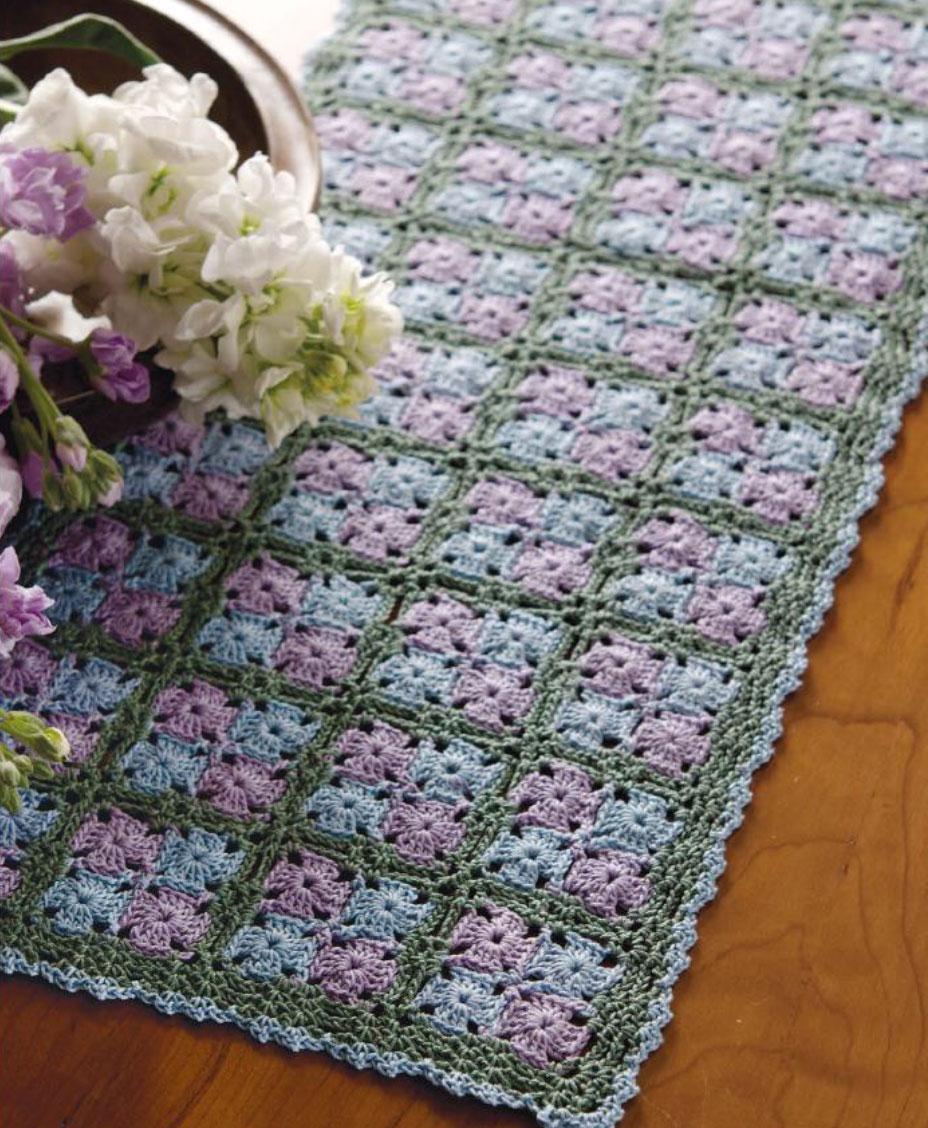 Tiny Granny Table Runner Crochet Pattern Crochet Kingdom