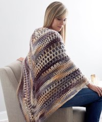Wrap-ture Crocheted Shawl Free Pattern  Crochet Kingdom