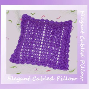 Elegant Cabled Pillow Pattern