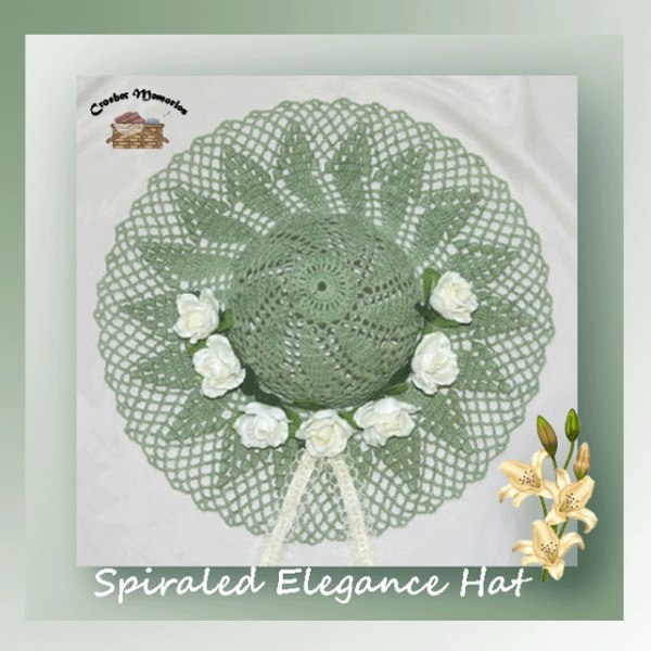 Crochet Decorative Hat Patterns - Spiraled Elegance Hat