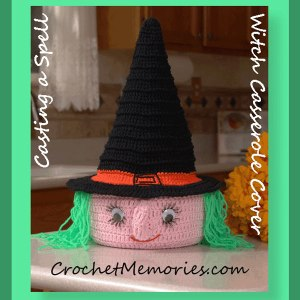 Casting a Spell Witch Casserole Cover
