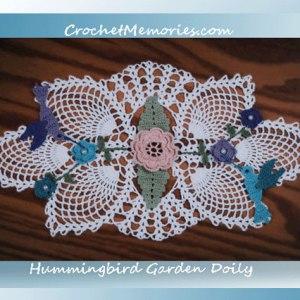Hummingbird Garden Doily