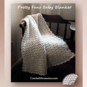 Pretty Fans Baby Blanket
