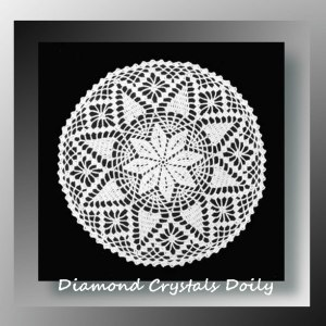 Diamond Crystals Doily