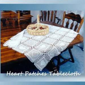 Heart Patches Tablecloth
