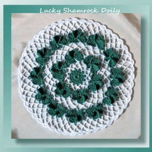 Lucky Shamrock Doily