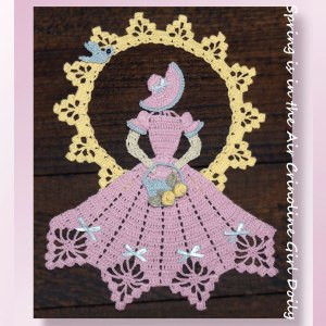 Spring is in the Air Crinoline Girl Doily