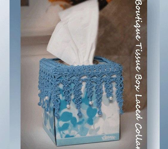 Boutique Tissue Box Laced Collar  <br /><br /><font color=