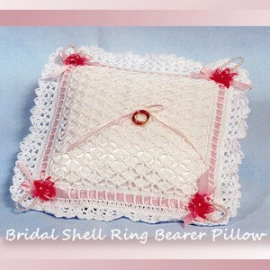 Bridal Shell Ring Bearer Pillow