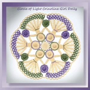 Circle of Light Crinoline Girl Doily