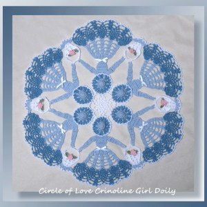 Circle of Love Crinoline Girl Doily