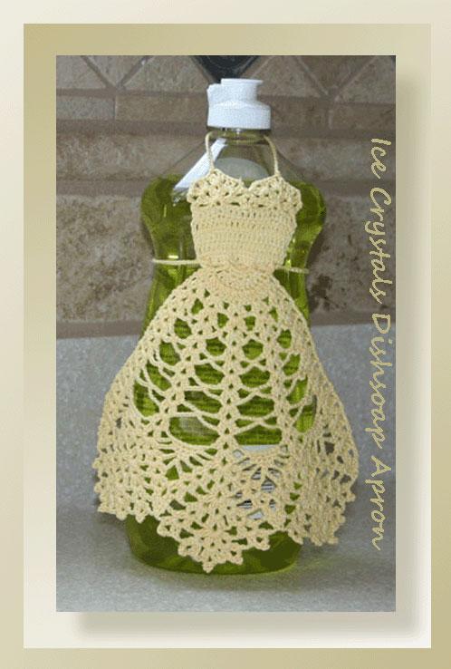 Ice Crystals Dishsoap Apron Crochet Dish Soap Apron Patterns