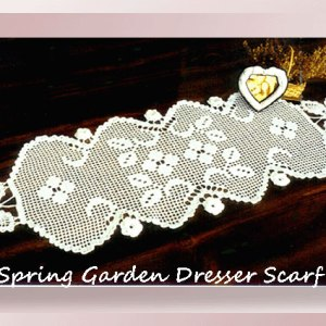 Spring Garden Dresser Scarf