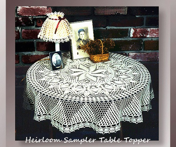 Heirloom Sampler Table Topper     <br /><br /><font color=