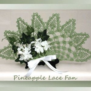 Pineapple Lace Fan